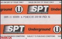 Glasgow Underground 的車票